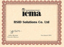 RSID Solutions has been recently approved and joint in ICMA in Novenmber